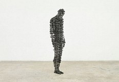 Gormley en la Royal Academy, discurso en hierro