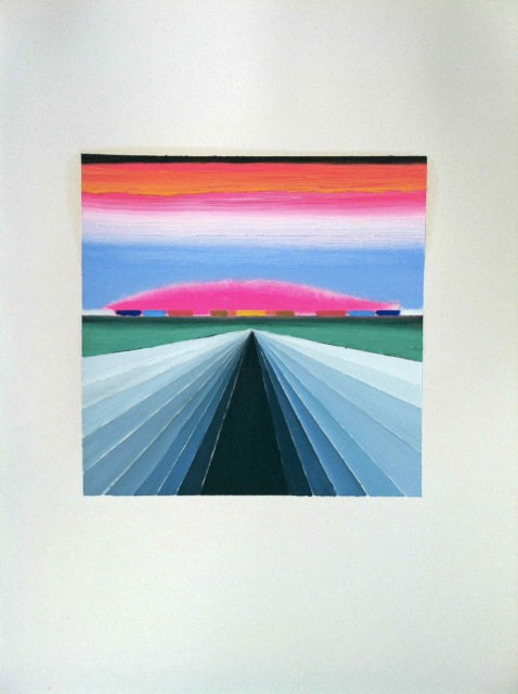 Botubol-30-x-22-inches-the-road-oil-on-paper