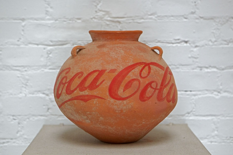 Ai Weiwei Neolithic Vase with Coca Cola