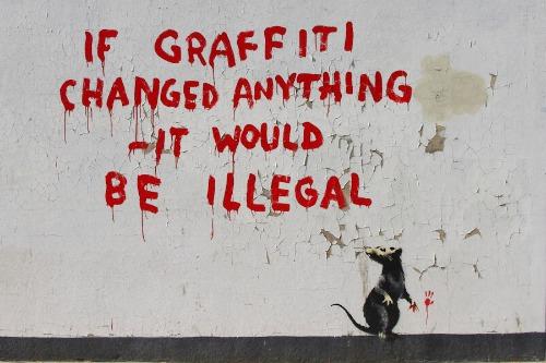 Banksy: si el grafiti cambiase algo sería ilegal