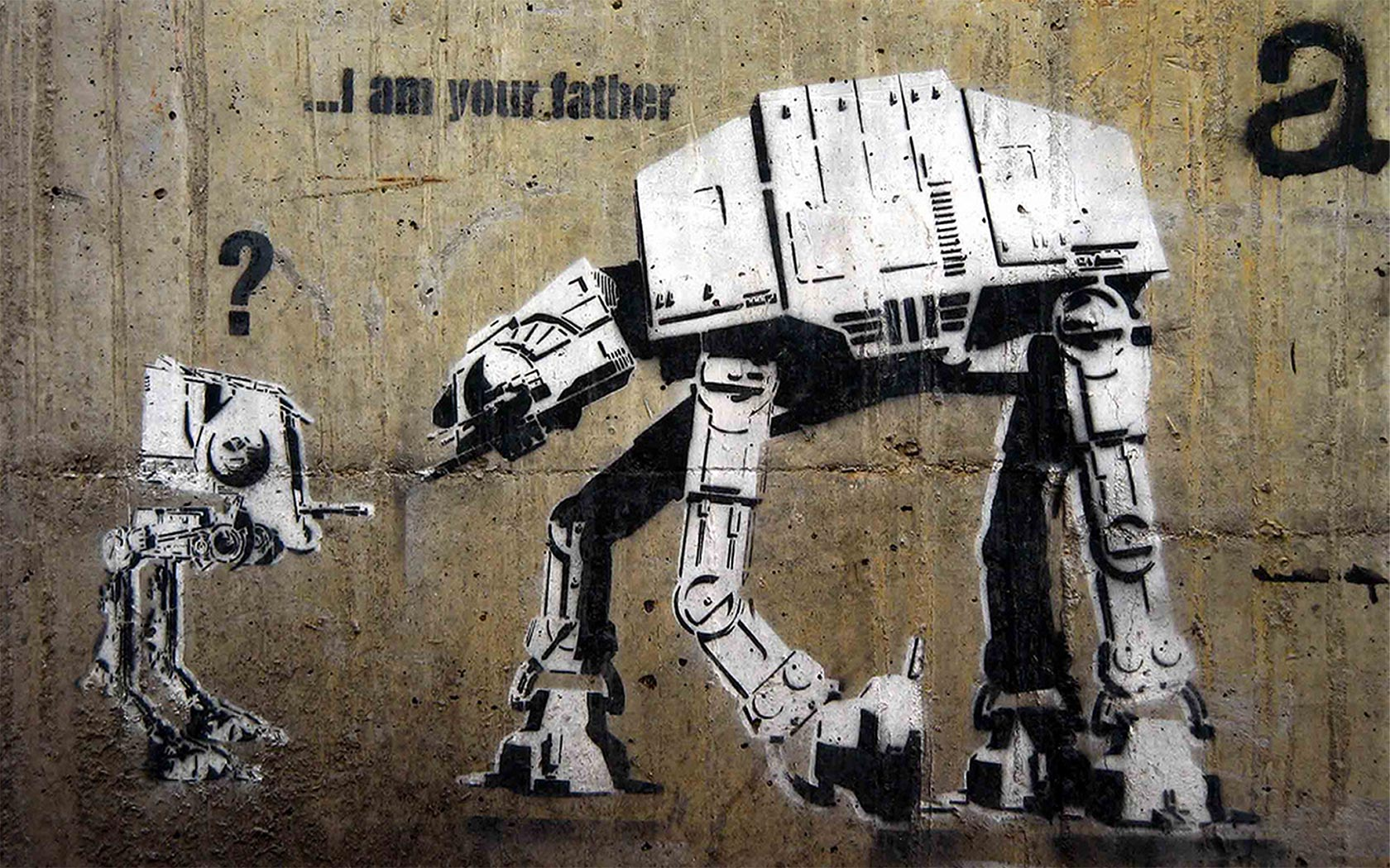 Click to enlarge image 10 i am father banksy canvas