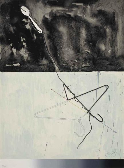 Jasper Johns Coat hanger and Spoon