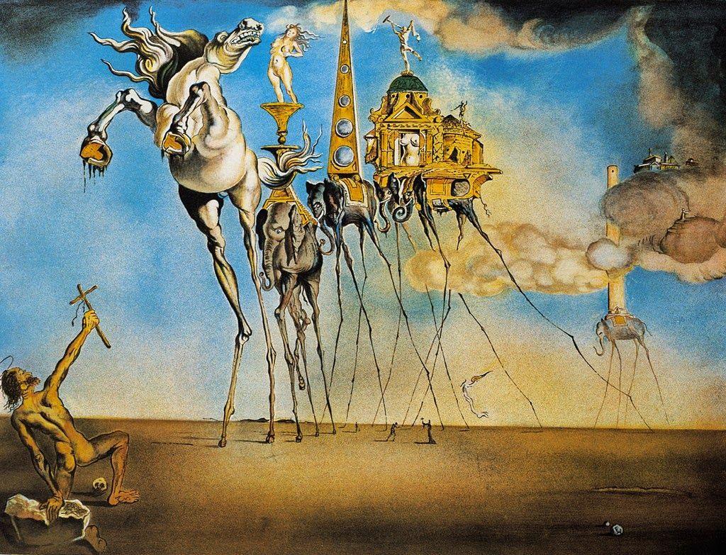 TentaciónSan Antonio Dalí