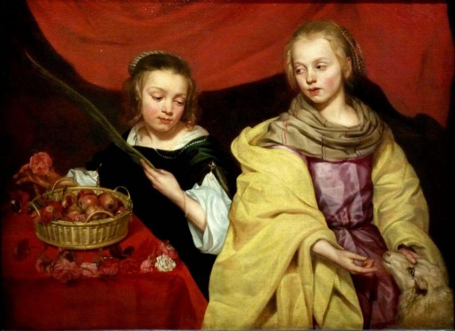 Santas Ines y Dorotea M.Wautier Carlos de Amberes