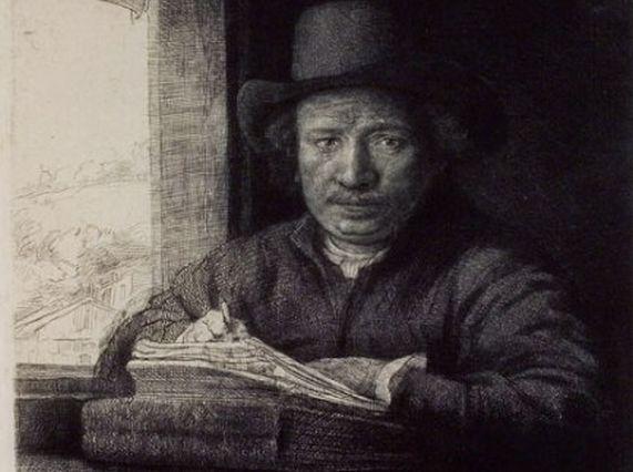 grabado rembrandt Carlos Amberes