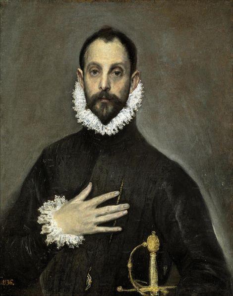 El Greco El Caballero de la mano en el pecho