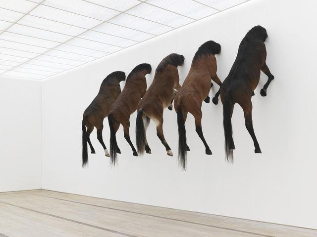 maurizio cattelan horses