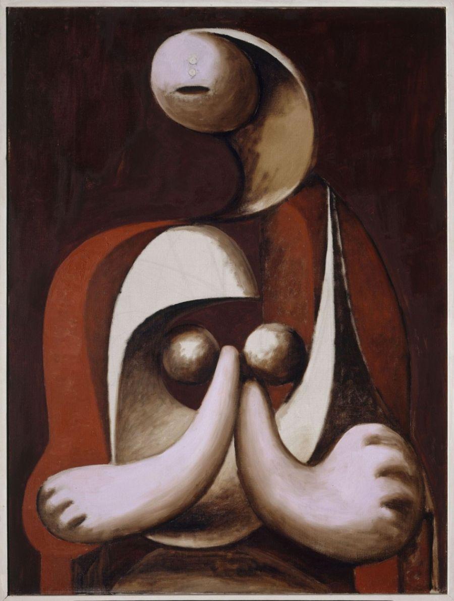 Museo Picasso Paris Mujer sentada en un sillón rojo