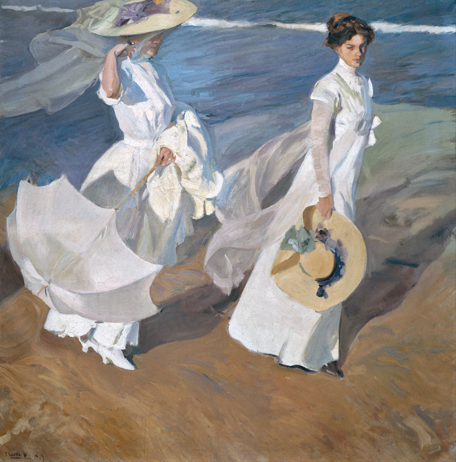 Joaquín Sorolla y Bastida Strolling along the Seashore Google Art Project