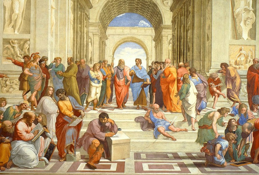 La escuela de Atenas ilustrando el artículo Filosofía por Diego Sanchez Meca