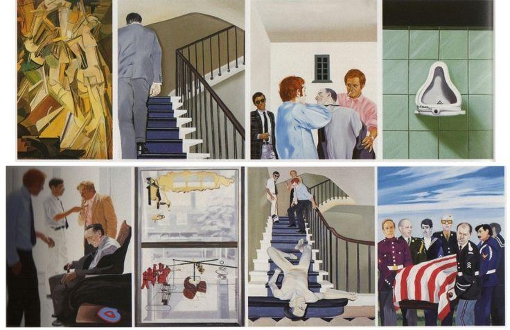 """50a2e8c463eb09fd8b4bb935d004d39b   Gilles Aillaud, Eduardo Arroyo, Antonio Recalcadi, """"Vivre et laisser mourir"""" ou """"La fin tragique de Marcel Duchamp"""", 1965."""