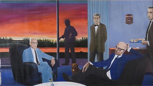 «La dacha», obra pintada por Gilles Aillaud, Eduardo Arroyo, Francis Biras, Lucio Fanti, Fabio y Nicky Rieti - ABC