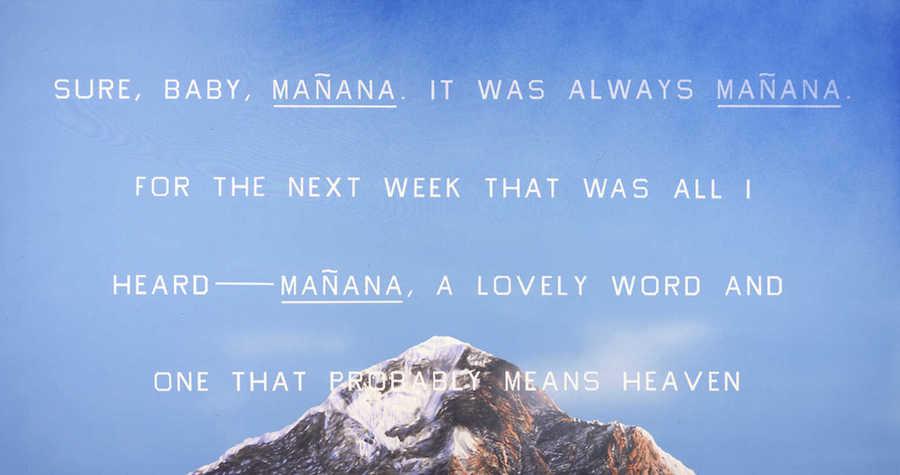 Ed Ruscha, Manana