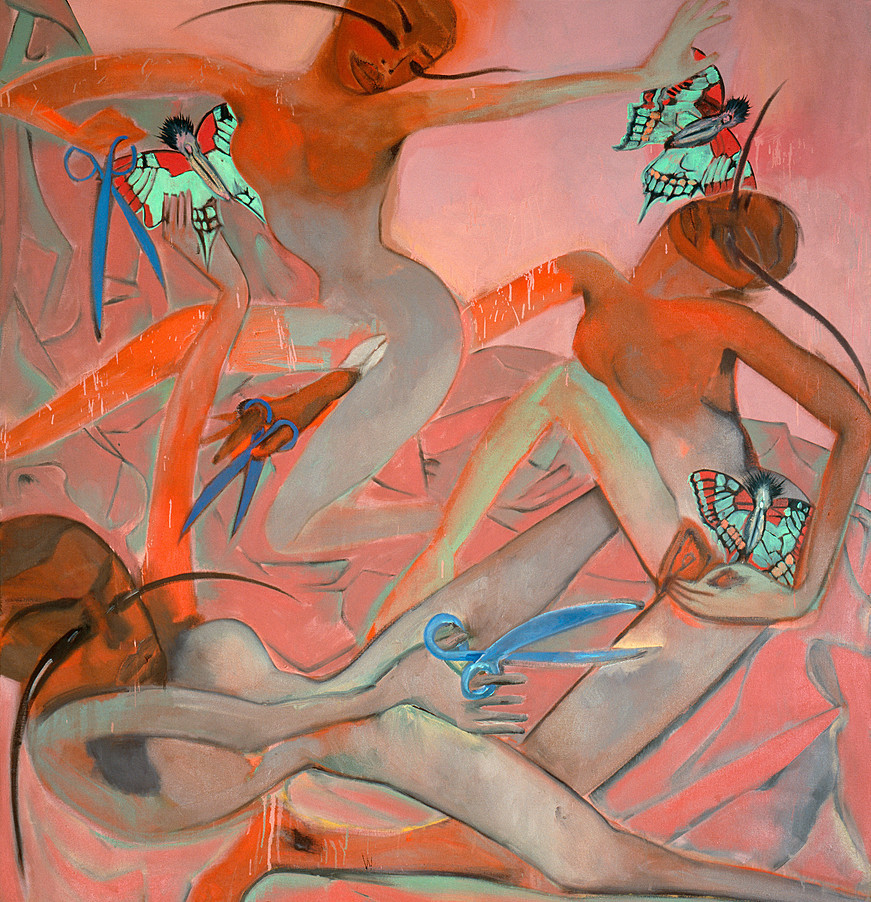 """Scissors and Butterflies,"" Francesco Clemente."