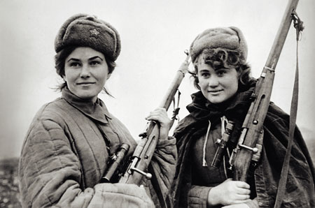 World War II Soviet female snipers unknown author