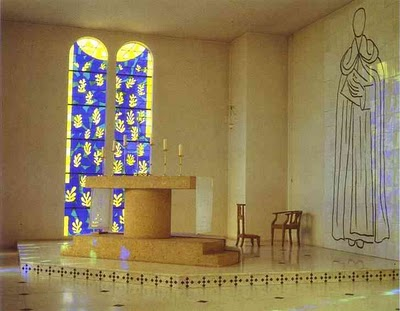 A - Henri Matisse - Interior of the Chapel of the Rosary Vence