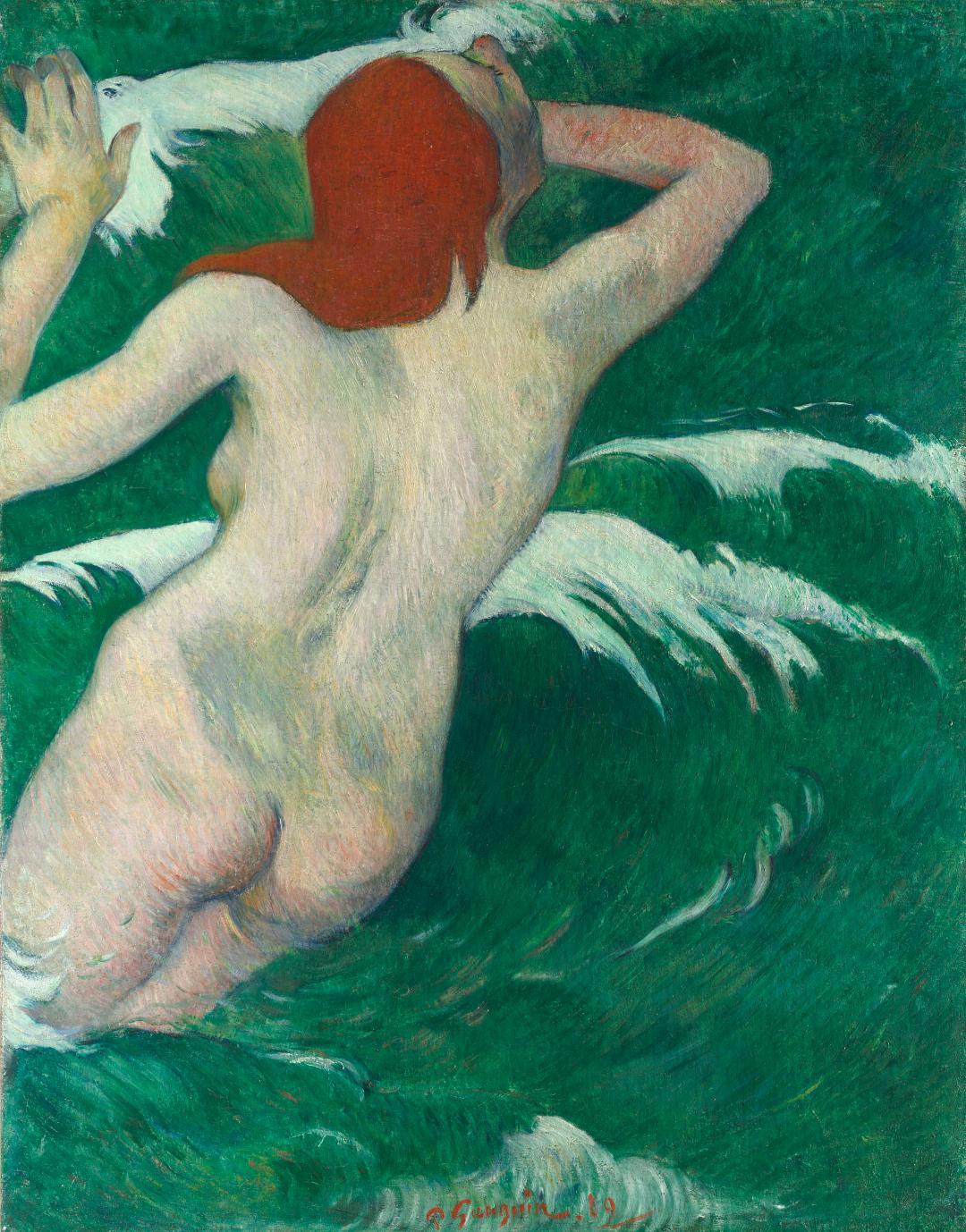 Paul Gaugin En las olas