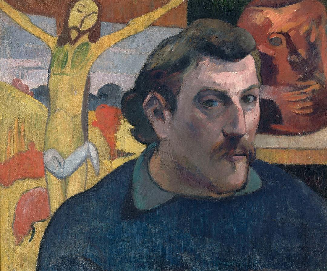 Paul Gaugin, Retrato del artista con Cristo amarillo