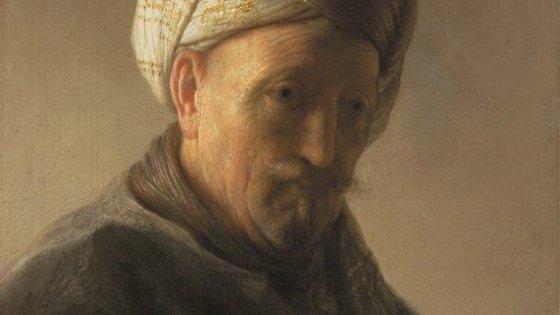 Rembrandt: Hombre oriental con turbante