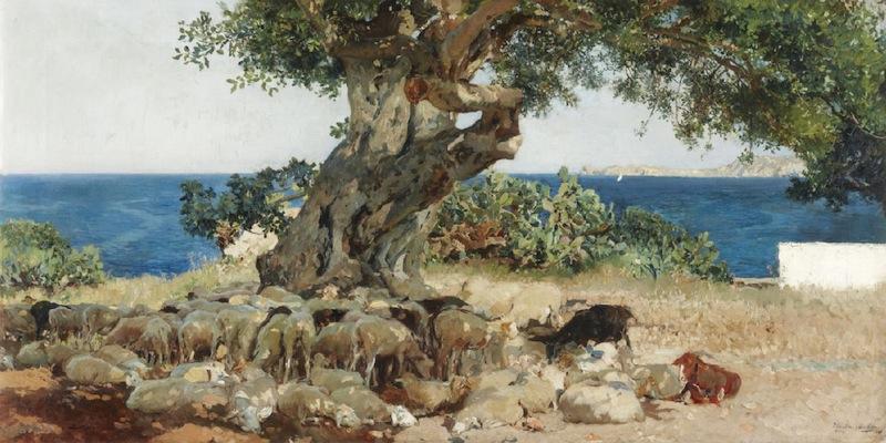 Sorolla: El algarrobo, 1898.