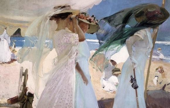 Sorolla: Bajo el toldo, 1910.