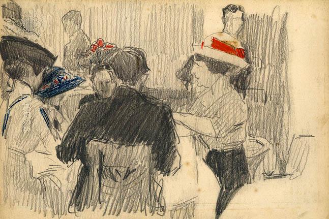Sorolla: Escena de café, 1911.