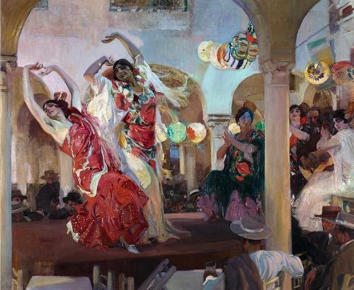 Sorolla: Baile en el Café Novedades de Sevilla, 1914.
