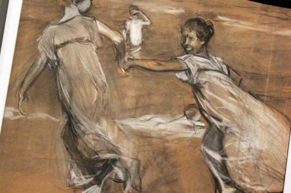 Sorolla: Niñas corriendo III. Estudio para Corriendo por la playa, 1908.