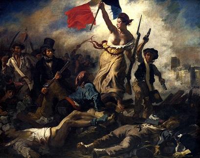 Eugene Delacroix:  La liberté guidant le peuple