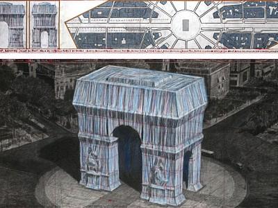 El Arco de Triunfo de París será envuelto por Christo en 2020