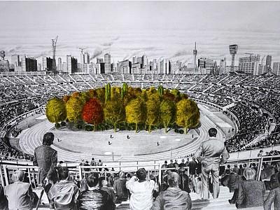 La Naturaleza invadirá un estadio en la próxima intervención de Klaus Littmann