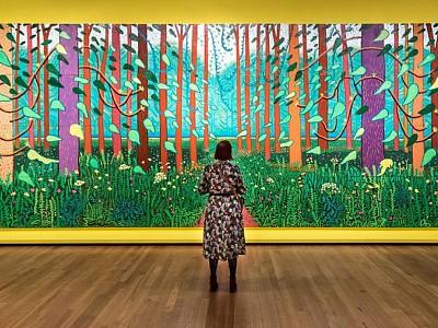 Los grandes paisajes de Hockney dialogan con la obra de Van Gogh