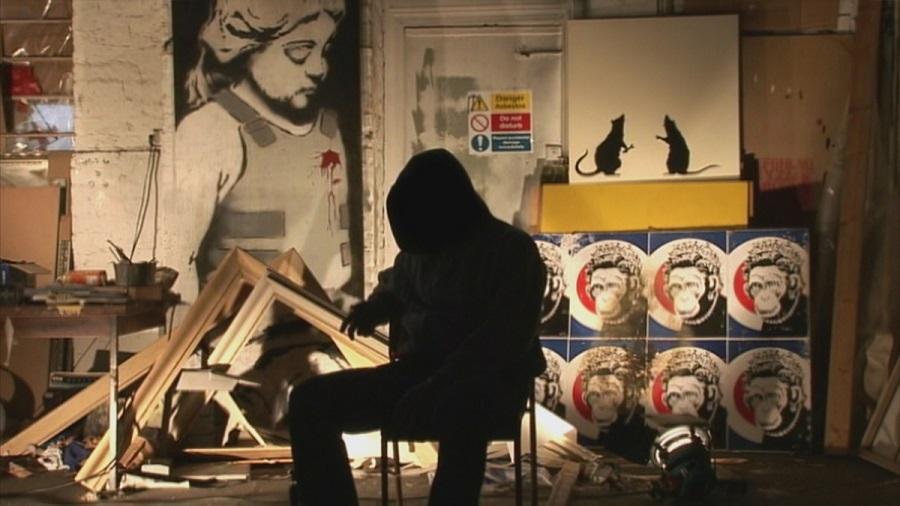 foto Banksy enmascarado