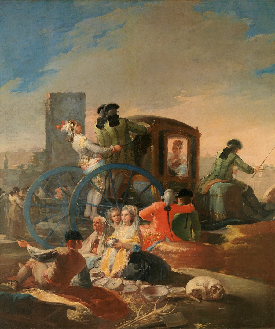 04 Carton El cacharrero por Francisco de Goya