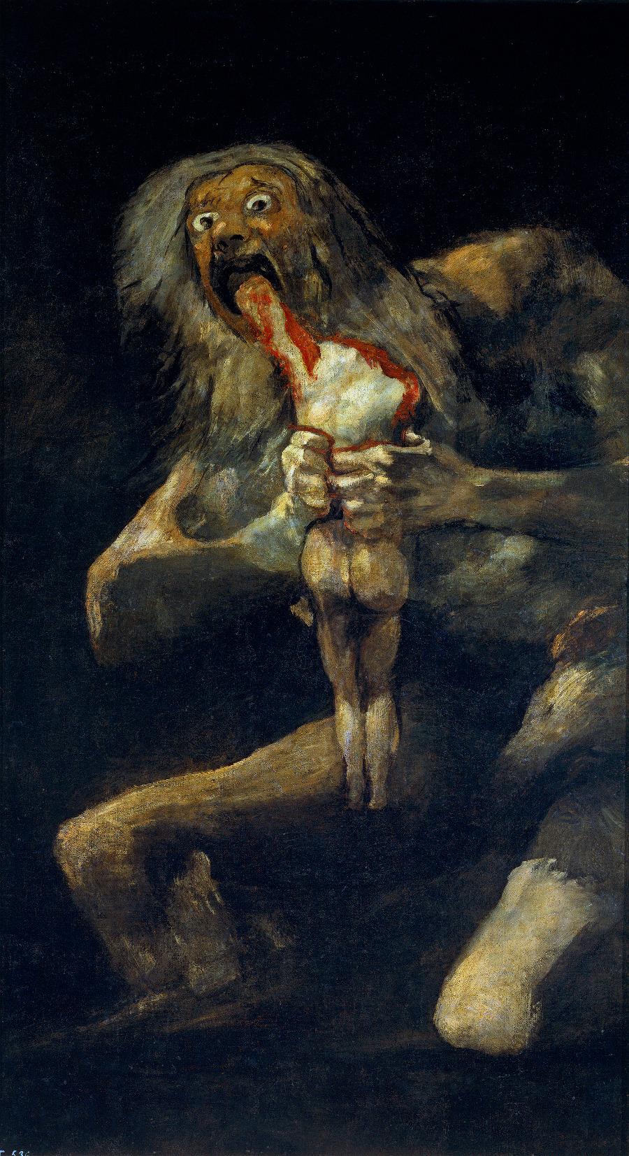 11. Francisco de Goya Saturno devorando a su hijo 1819 1823