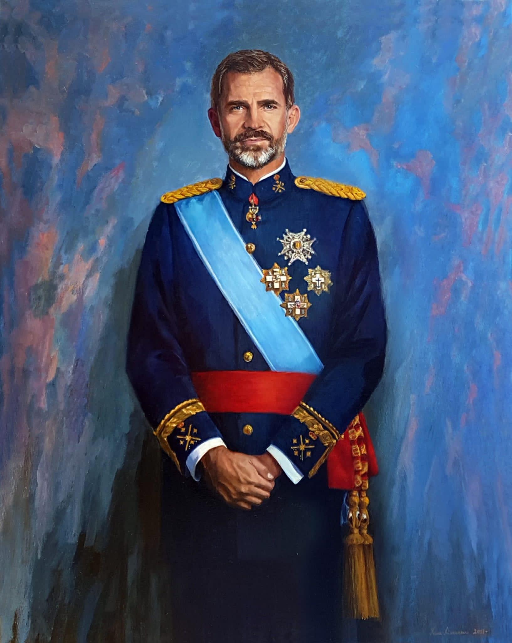 Retrato de Felipe VI por Irene Iribarren