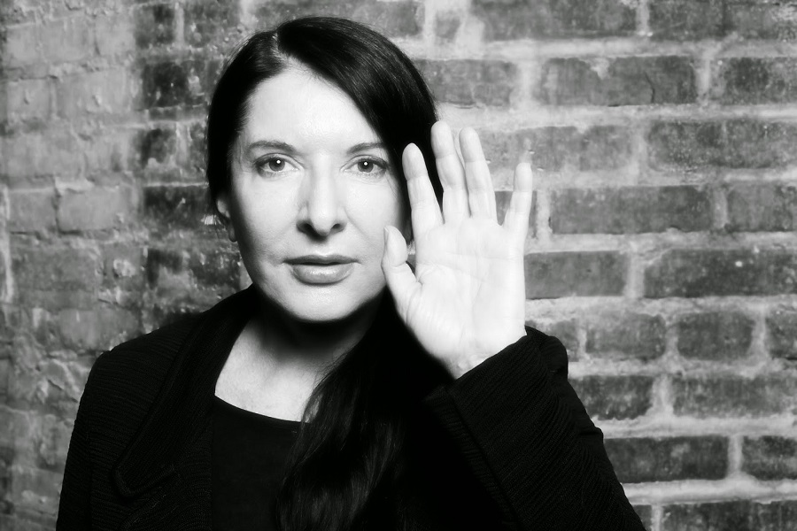 Marina Abramovic The Past The Present Future of Performance Art. Photo by David Leyes