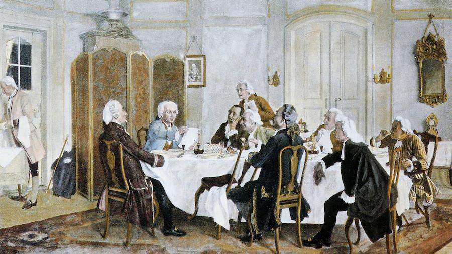 Kant con amigos incluidos Christian Jakob Kraus Johann Georg Hamann Theodor Gottlieb von Hippel