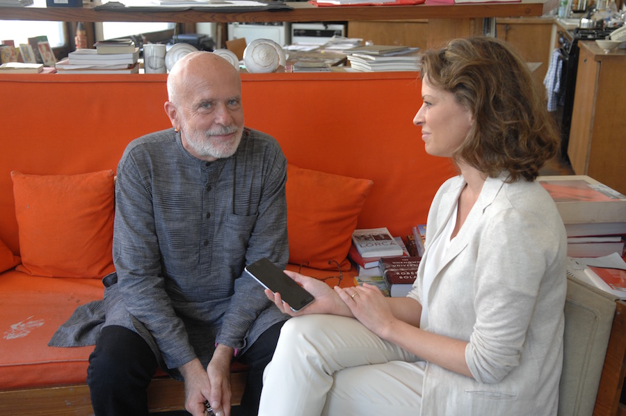 Francesco Clemente y Elena Cue