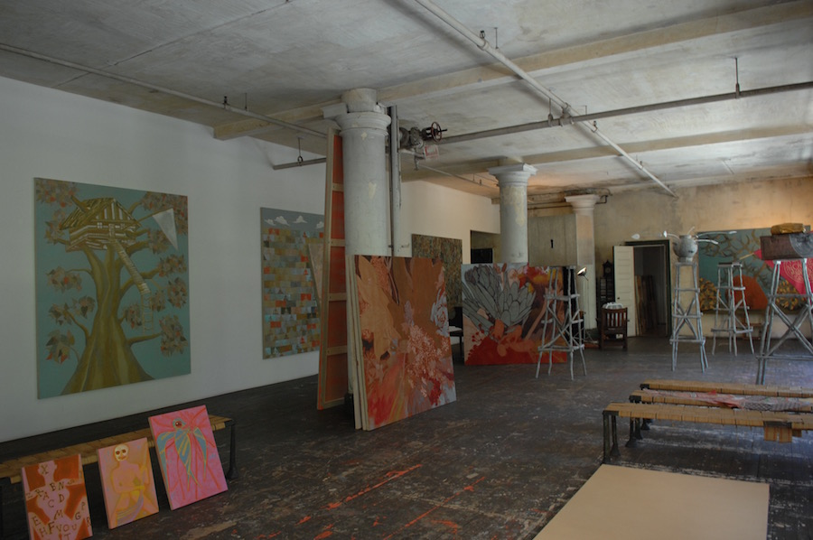 Estudio de Francisco Clemente en Nueva York.