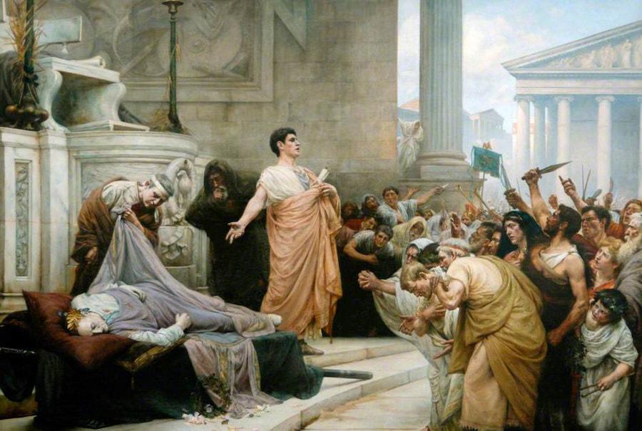 Marc Antonys Oration at Caesars Funeral by George Edward Robertson