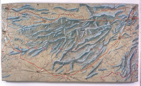 Guillermo Kuitca. Afghanistan 1990. Mixed media on mattress 67 x 118 x 4-34 in. Daros-Latinamerica Collection Zurich