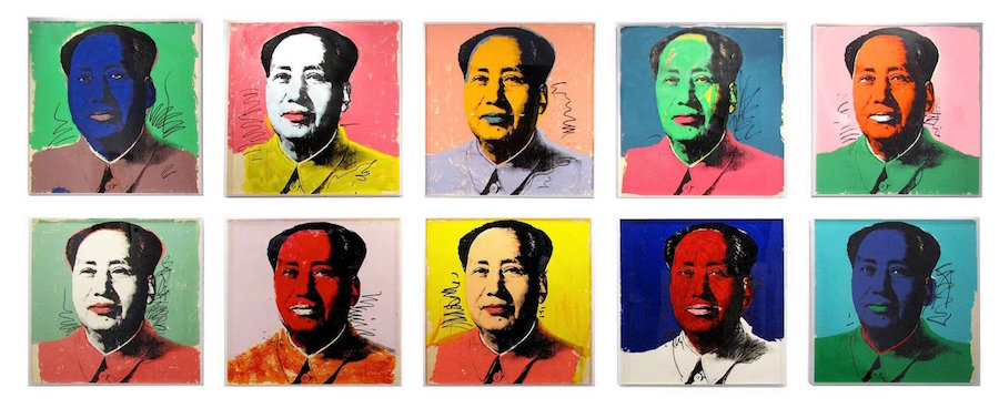 andy warhol mao set framed in situ hirez skot foreman gallery l