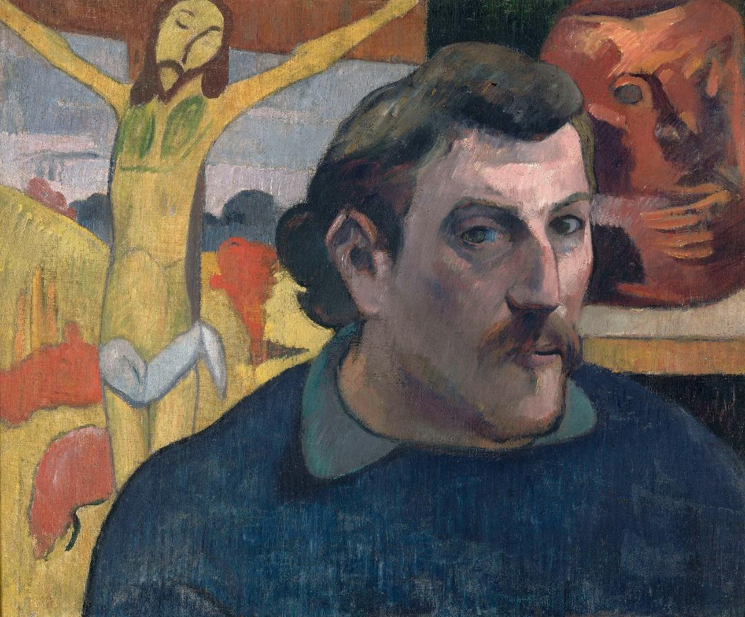 Paul Gaugin, Retrato del artista con Cristo amarillo
